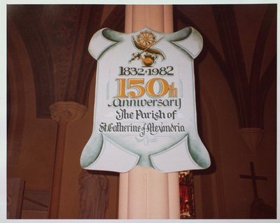 St. Catherine of Alexandria Church 150th Anniversary Banner