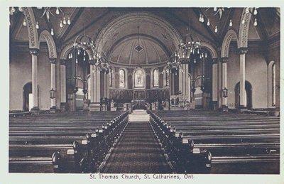 St. Thomas Anglican Church, Interior