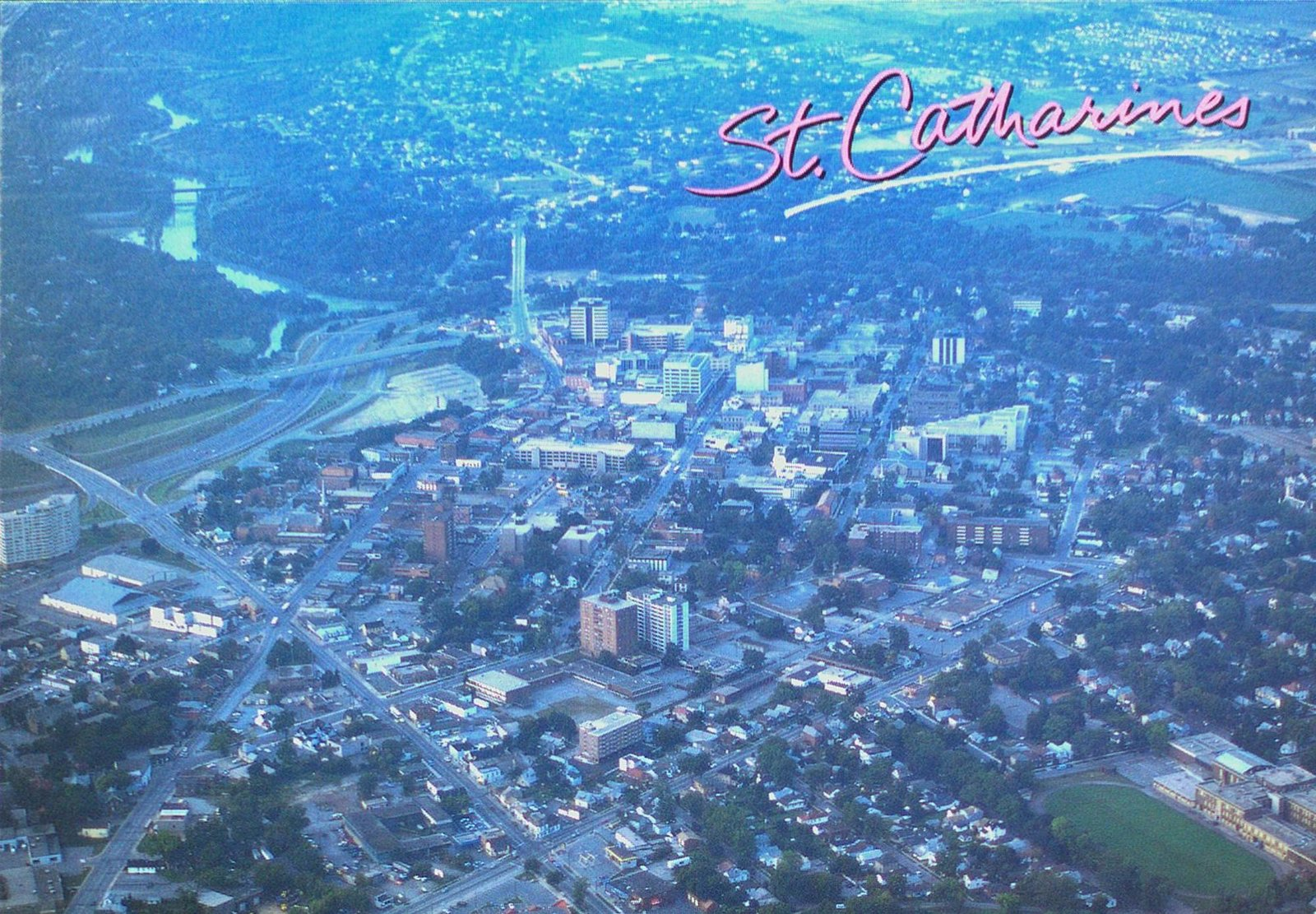 An Aerial View of Downtown St. Catharines