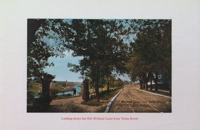 Souvenir of St. Catharines: Old Welland Canal from Yates Street