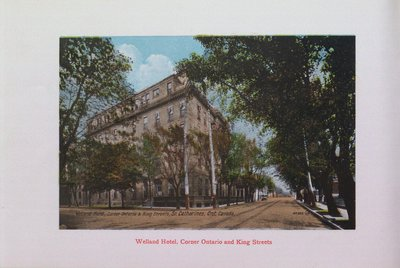 Souvenir of St. Catharines: Welland Hotel