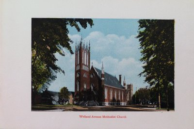 Souvenir of St. Catharines: Welland Avenue Methodist Church