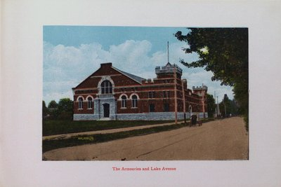 Souvenir of St. Catharines: The Armouries and Lake Avenue