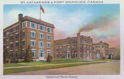 Souvenir view of St. Catharines & Port Dalhousie: General and Marine Hospital