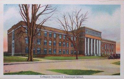 Souvenir view of St. Catharines & Port Dalhousie: Collegiate Institute and Vocational School