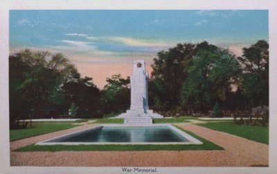 Souvenir view of St. Catharines & Port Dalhousie: War Memorial