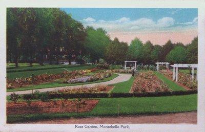 Souvenir view of St. Catharines & Port Dalhousie: Rose Garden, Montebello Park