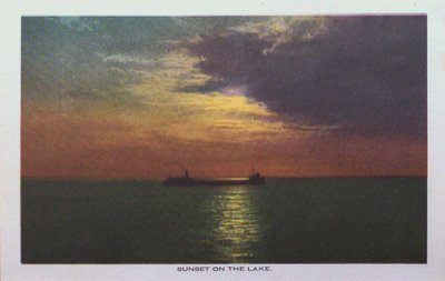 Souvenir view of St. Catharines & Port Dalhousie: Sunset on the Lake