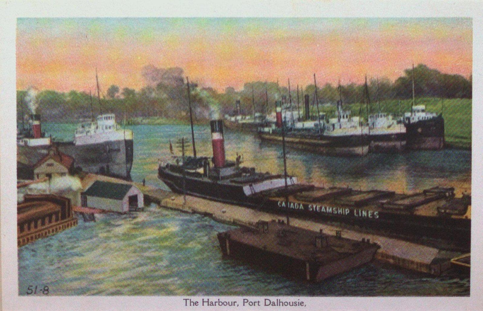 Souvenir view of St. Catharines & Port Dalhousie: The Harbour, Port Dalhousie