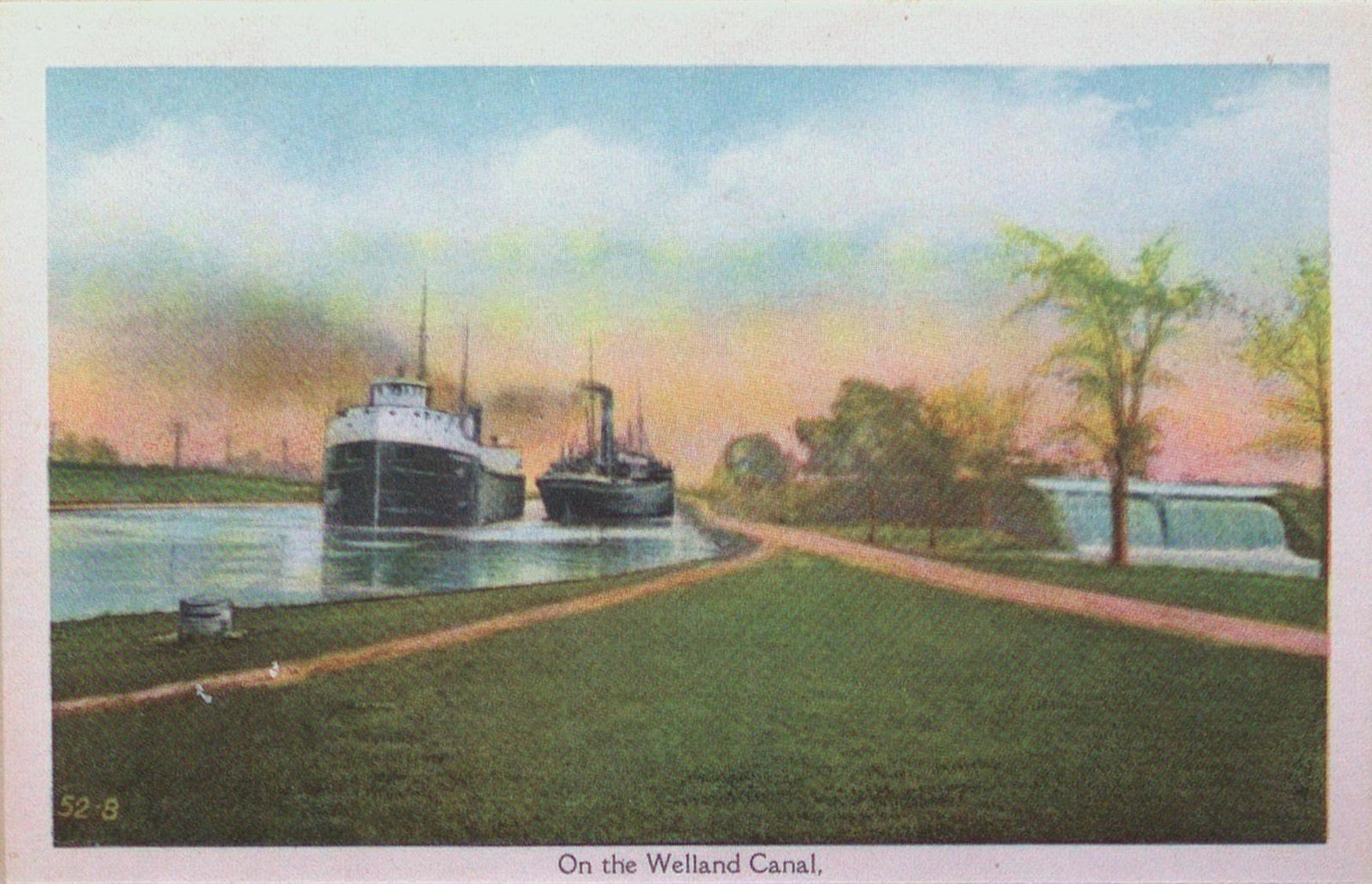 Souvenir view of St. Catharines & Port Dalhousie: On the Welland Canal