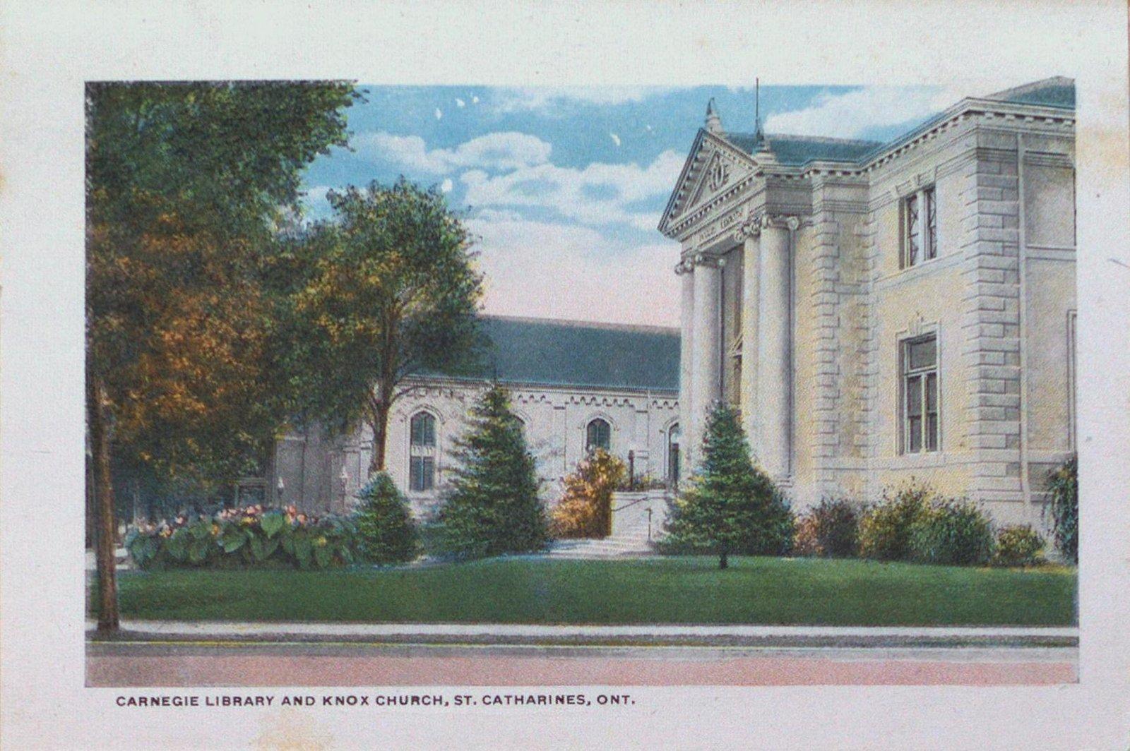 Souvenir Folder of St. Catharines: Carnegie Library & Knox Presbyterian Church