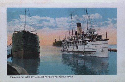 "Souvenir Folder of St. Catharines: ""Dalhousie City"" Arriving at Port Dalhousie"