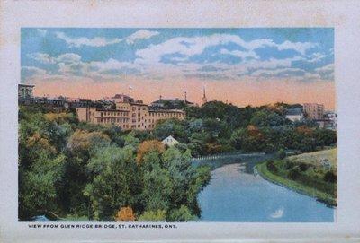 Souvenir Folder of St. Catharines: A View from Glen Ridge Bridge