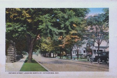 Souvenir Folder of St. Catharines: Ontario Street Looking North