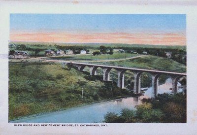 Souvenir Folder of St. Catharines: Glen Ridge and New Cement Bridge