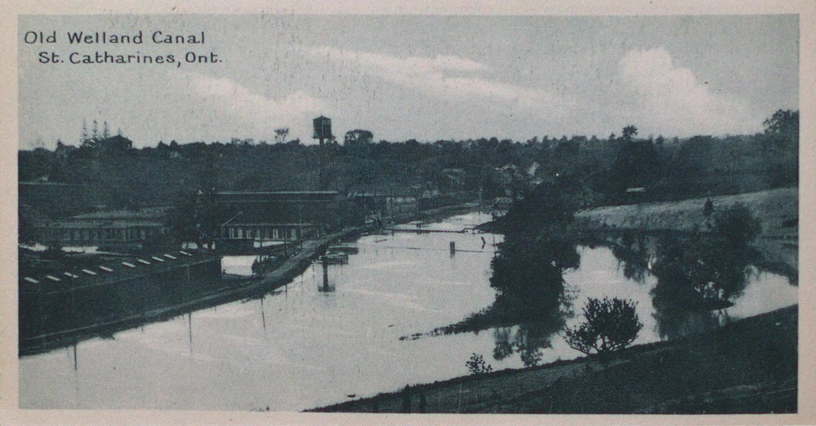 Souvenir of St. Catharines Postcards: The Old Welland Canal