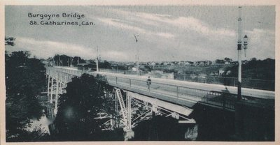 Souvenir of St. Catharines Postcards: Burgoyne Bridge St. Catharines, Can.