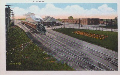 View of St. Catharines: G.T.R. Station
