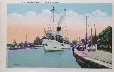 "Views of St. Catharines: ""Northumberland"" at Port Dalhousie"