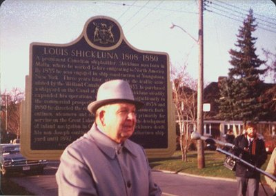 Unveiling of the Louis Shickluna Plaque