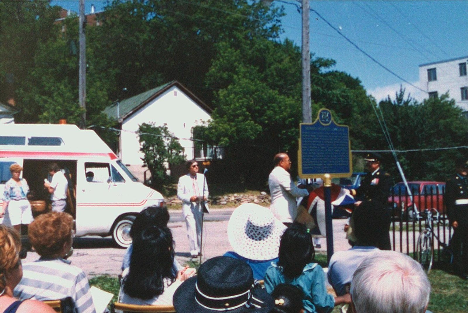 A photograph of the Richard Pierpoint plaque unveiling in St Catharines, 1985. <br>Courtesy the St Catharines Public Library.