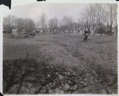 Construction of the Rose Garden at Montebello Park
