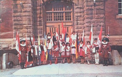 The Colour Guard of the St. Catharines Folk Arts Council