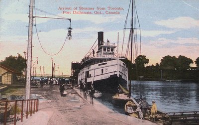 Arrival of a Steamer at Port Dalhousie