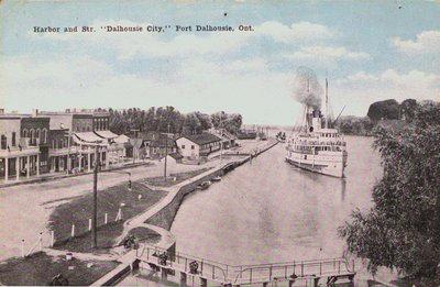 Steamer Dalhousie City in Port Dalhousie Harbour