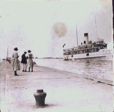 S.S. Dalhousie Docking at the Port Dalhousie Pier