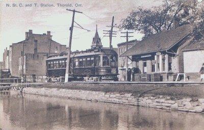 Niagara, St. Catharines & Toronto Railway, Thorold.