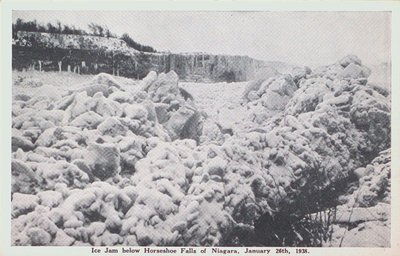 Ice Jam below the Horseshoe Falls, Niagara Falls