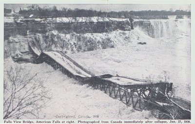 Falls View Bridge After Collapse, Niagara Falls