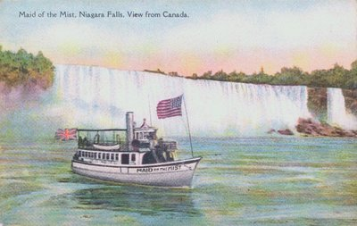 The Maid of the Mist and the American Falls