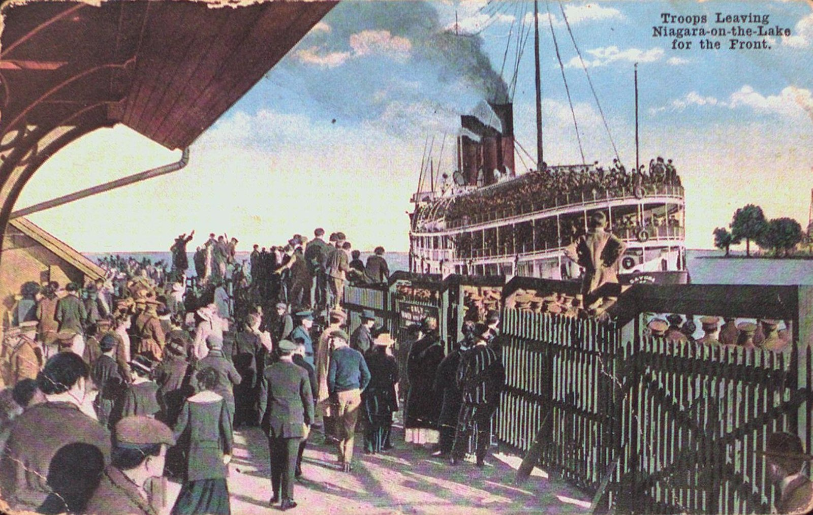 Troops Leaving Niagara-on-the-Lake for the Front
