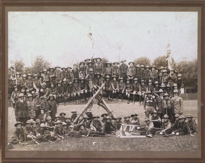 First Presbyterian Boy Scout Troop with other troops from St. Catharines