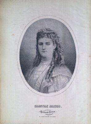 Teresa Vanderburgh's Musical Scrapbook #1 - Portrait of Christine Nilsson