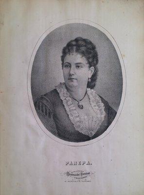 Teresa Vanderburgh's Musical Scrapbook #1 - Portrait of Parepa