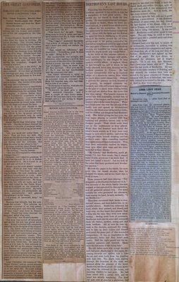 Teresa Vanderburgh's Musical Scrapbook #1 - Newspaper Clippings