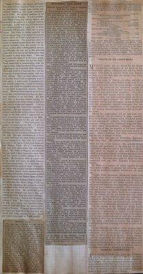 Teresa Vanderburgh's Musical Scrapbook #1 - Newspaper Clippings: Musicians