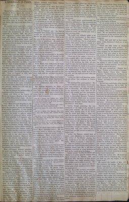 Teresa Vanderburgh's Musical Scrapbook #1 - Newspaper Clippings: Death of Victor Masse