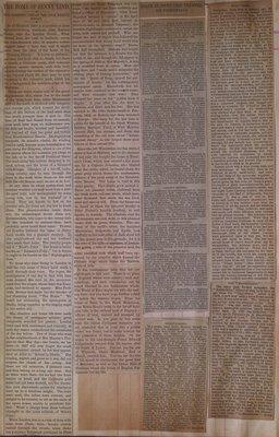 Teresa Vanderburgh's Musical Scrapbook #1 - Newspaper Clippings: Jenny Lind