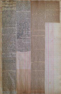 Teresa Vanderburgh's Musical Scrapbook #1 - Newspaper Clippings: Henry Leslie's Choir & Richard Wagner