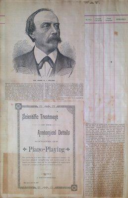 Teresa Vanderburgh's Musical Scrapbook #1 - Dr. Hans G. v. Bulow & Pamphlet Regarding Piano Playing