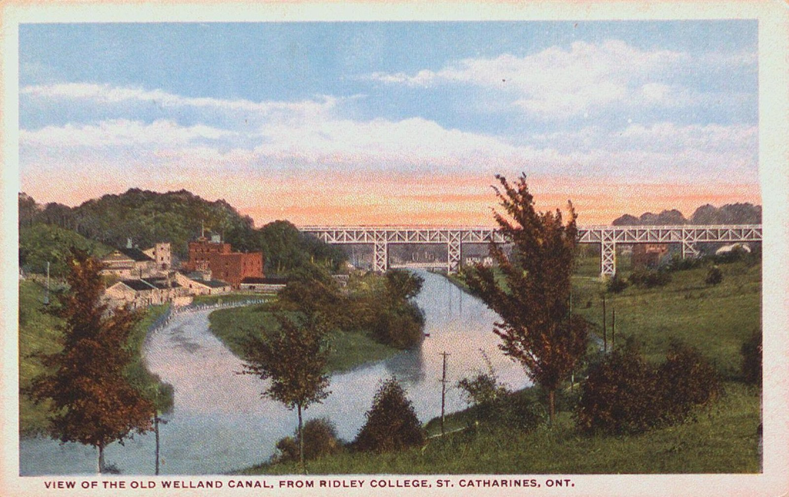 The Old Welland Canal from Ridley College