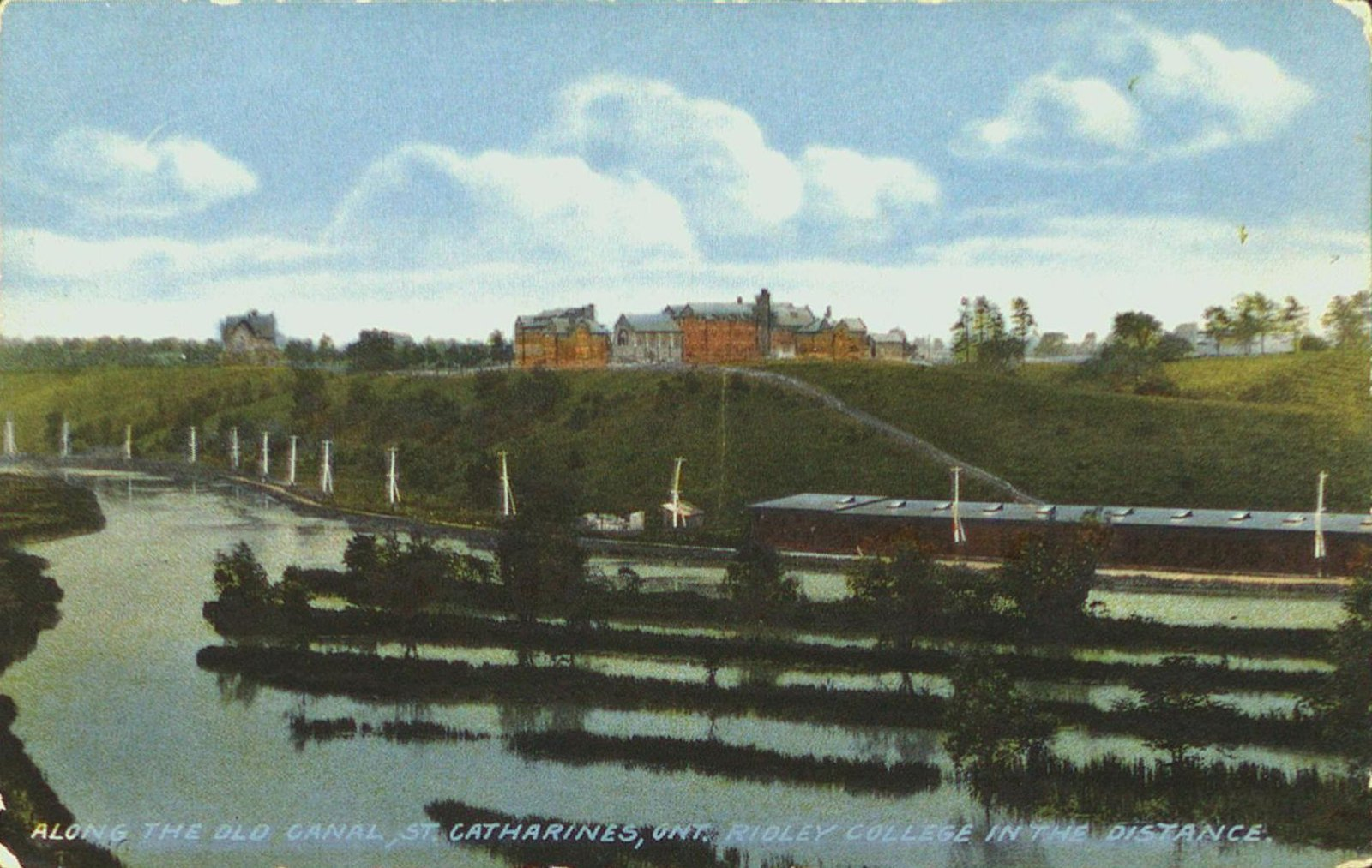 Along the Old Welland Canal with Ridley College in the Distance