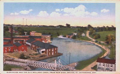Glen Ridge & The Old Welland Canal from the New Steel Bridge