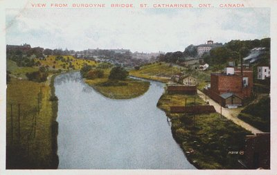 A view of the Old Canal from the Burgoyne Bridge