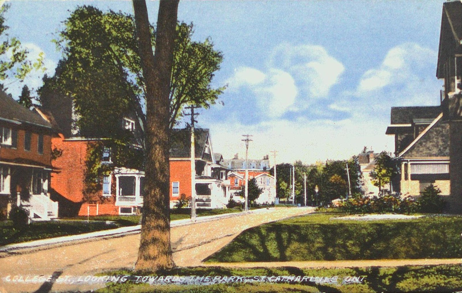 College Street looking east towards the park (Montebello)