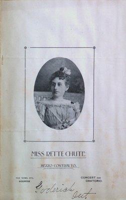 Teresa Vanderburgh's Musical Scrapbook #1 - Pamphlet: Miss Rette Chute